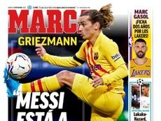 Les Unes des journaux sportifs en Espagne du 24 novembre 2020. Marca