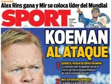 As capas da imprensa esportiva de 19 de outubro de 2020. Sport