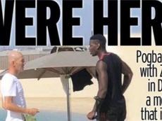 Pogba et Zidane ensemble à Dubaï. Captura/Mirror