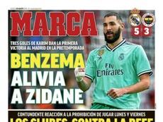 Les Unes des journaux sportifs en Espagne du 1er août 2019. Marca