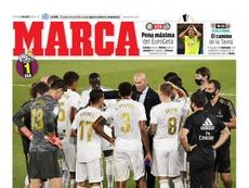 Les Unes des journaux sportifs en Espagne du 6 août 2020. Marca
