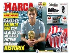 Capa do jornal 'Marca' de 14-10-18. Marca