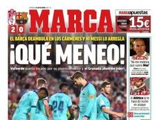 Les Unes des journaux sportifs en Espagne du 22/09/2019. Marca