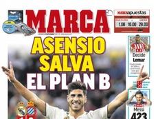 Capa do jornal 'Marca' de 23-09-18. Marca