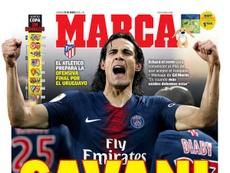 Les Unes des journaux sportifs en Espagne. Marca