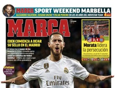 Capa do jornal Marca de 11-11-19. Marca