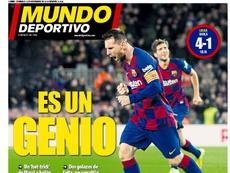 Capa do jornal Mundo Deportivo de 10-11-19. MD