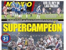 Capa do jornal 'Mundo Deportivo' de 10-12-18. MD