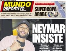 Capa do jornal Mundo Deportivo de 12-11-19. MD