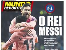 Capa do jornal 'Mundo Deportivo' de 09-12-18. Mundo Deportivo