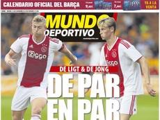 Portada Mundo Deportivo. MD