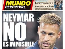 Capa do jornal 'Mundo Deportivo' de 17-10-18. Mundo Deportivo
