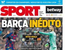 Capa revista Sport de 10-12-19. Sport