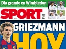 Les Unes des journaux sportifs en Espagne du 12 juillet 2019. SPORT