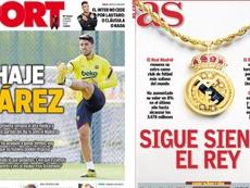 As capas da imprensa esportiva de 29 de maio de 2020. Sport/Marca