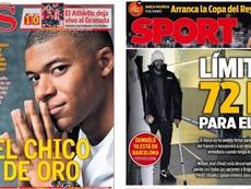 Les Unes des journaux sportifs en Espagne du 13 février 2020. AS/Sport