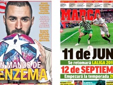 As capas da imprensa esportiva de 30 de maio de 2020. Marca/AS