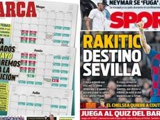 Les Unes des journaux sportifs en Espagne du 19 mars 2020. Marca/Sport
