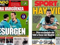 La prensa catalana estalló de nuevo. Sport/MD