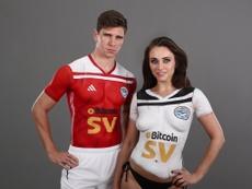 Ya es habitual la forma del Ayr United para presentar sus camisetas. Twitter/FutboldeInglaterra