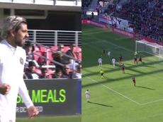 El primer gol en la MLS del Inter Miami llevó la firma de Pizarro. Captura/TUDN