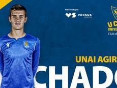 Agirre firmó hasta 2022. Twitter/UCAMMurciaCF