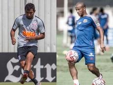 Escalações de Corinthians e Santos. Montagem