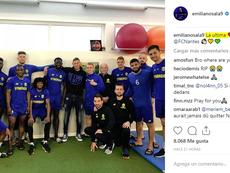Emiliano Sala viajó del País de Gales a Francia para despedirse de sus ex compañeros. Instagram