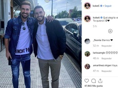 Griezmann liked Koke's photo with Gabi. Instagram/koke6