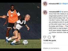 Stoch reconoció que ha dado positivo en COVID-19. Instagram/minostoch99