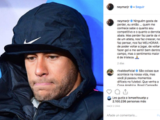 Neymar admitted that nobody likes to lose after his attack on a Rennes supporter. Instagram