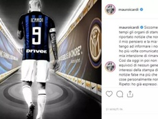 Icardi has confirmed his intention of staying at Inter. Instagram/@mauroicardi