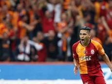 Falcao fue protagonista con el Galatasary. Twitter/GalatasaraySK