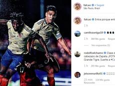 Falcao resumió la victoria. Instagram/Falcao