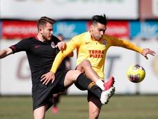 El colombiano entrenó junto al resto de sus compañeros tras superar sus molestias. GalatasaraySK