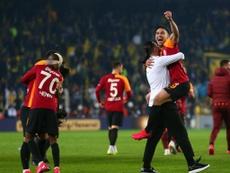 La alegría del Galatasaray estaba justificada. Twitter/GalatasaraySK