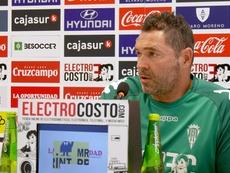 Rafa Navarro destacó la buena actitud de sus jugadores. CordobaCF