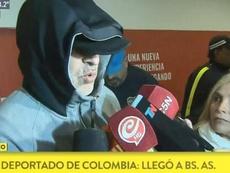 El barra brava de Boca Rafael Di Zeo, deportado de Colombia. Captura/TodoNoticias