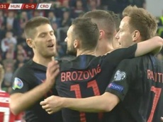 Rebic got Croatia going in Hungary. Captura/ZVoetbal
