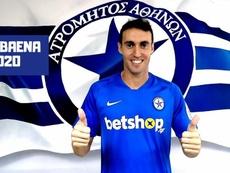 Raúl Baena jugará en el Atromitos. Twitter/Atromitos1923