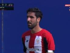 Raúl García scored for Bilbao. Screenshot/GOL