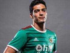 Le troisième maillot de Wolverhampton en hommage à Raul Jimenez. Twitter/Wolves