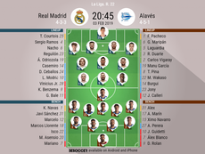 Real Madrid v Alaves, La Liga, GW 22 - Official lineups. BESOCCER