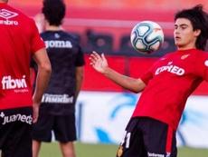 Luka Romero sueña con jugar junto a Messi. EFE