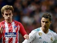 Griezmann ya usó la comparación de Messi con Cristiano. AFP
