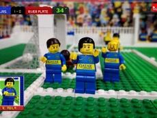 El 'Superclásico' fue recreado con piezas de Lego. Youtube