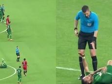 Fingió una agresión... ¡del árbitro! Capturas/ESPN