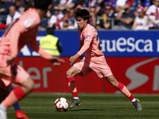 Riqui Puig, un des meilleurs barcelonais face à Huesca. FCBarcelona
