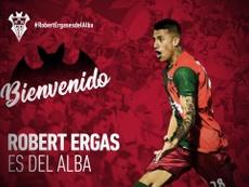 Ergas, otro refuerzo para los manchegos. Twitter/AlbaceteBPSAD