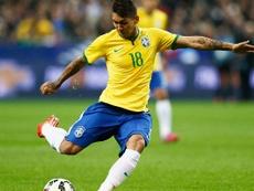 Le joli piqué de Firmino qui donne l'avantage au Brésil face au Sénégal. Twitter